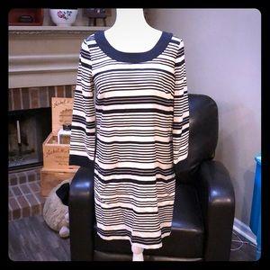 J Crew silk striped dress